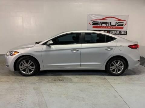 2018 Hyundai Elantra for sale at SIRIUS MOTORS INC in Monroe OH