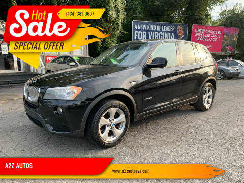 2011 BMW X3 for sale at A2Z AUTOS in Charlottesville VA