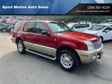 2004 Mercury Mountaineer for sale at Sport Motive Auto Sales in Seattle WA