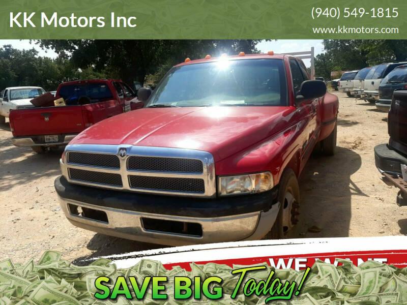 1998 Dodge Ram Pickup 3500 for sale at KK Motors Inc in Graham TX