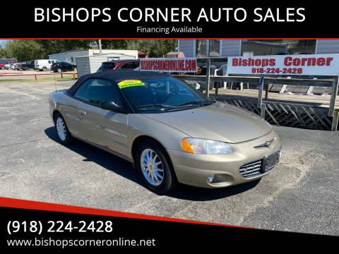 2002 Chrysler Sebring for sale at BISHOPS CORNER AUTO SALES in Sapulpa OK