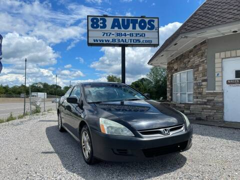 2007 Honda Accord for sale at 83 Autos in York PA