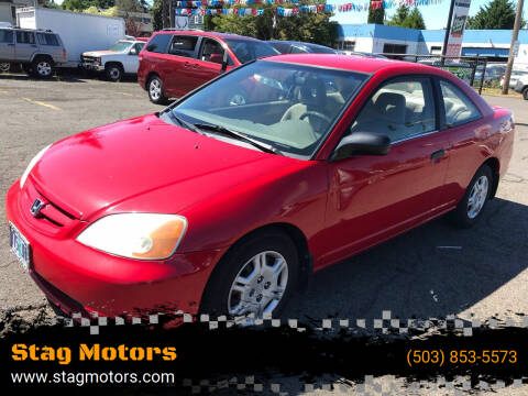 2001 Honda Civic for sale at Stag Motors in Portland OR