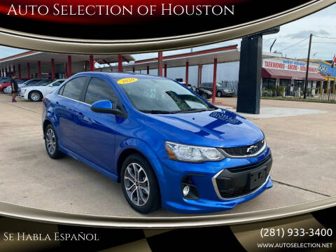 2020 Chevrolet Sonic for sale at Auto Selection of Houston in Houston TX