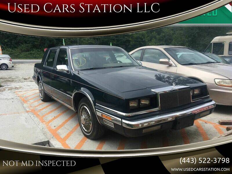 1988 Chrysler New Yorker for sale at Used Cars Station LLC in Manchester MD