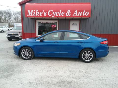 2017 Ford Fusion for sale at MIKE'S CYCLE & AUTO in Connersville IN