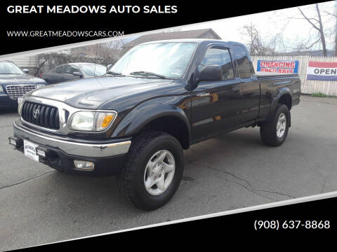 2002 Toyota Tacoma for sale at GREAT MEADOWS AUTO SALES in Great Meadows NJ