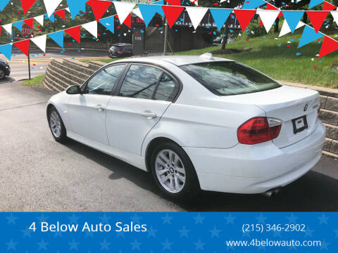2007 BMW 3 Series for sale at 4 Below Auto Sales in Willow Grove PA