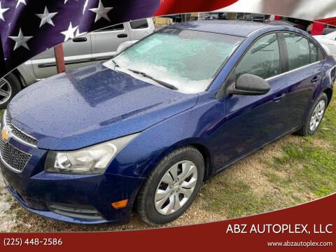 2012 Chevrolet Cruze for sale at ABZ Autoplex, LLC in Baton Rouge LA