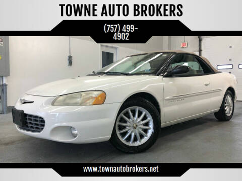 2001 Chrysler Sebring for sale at TOWNE AUTO BROKERS in Virginia Beach VA