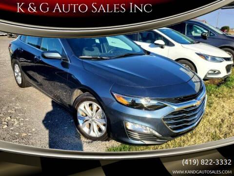 2020 Chevrolet Malibu for sale at K & G Auto Sales Inc in Delta OH