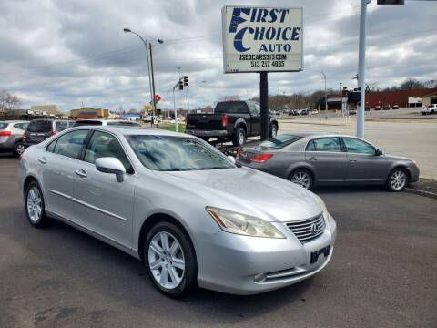 2007 Lexus ES 350 for sale at FIRST CHOICE AUTO Inc in Middletown OH