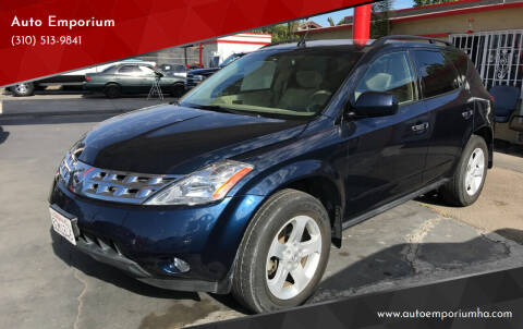 2003 Nissan Murano for sale at Auto Emporium in Wilmington CA