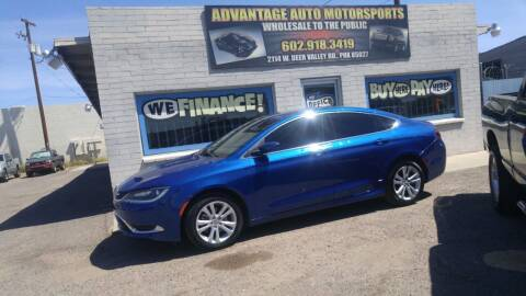 2015 Chrysler 200 for sale at Advantage Motorsports Plus in Phoenix AZ