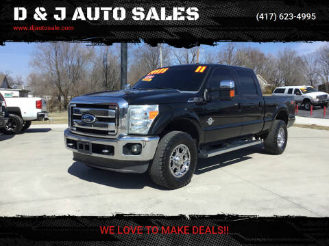 2011 Ford F-350 Super Duty for sale at D & J AUTO SALES in Joplin MO