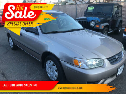 2002 Toyota Corolla for sale at EAST SIDE AUTO SALES INC in Paterson NJ