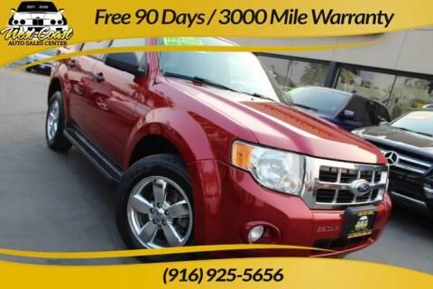 2010 Ford Escape for sale at West Coast Auto Sales Center in Sacramento CA
