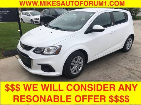 2019 Chevrolet Sonic for sale at Mikes Auto Forum in Bensenville IL