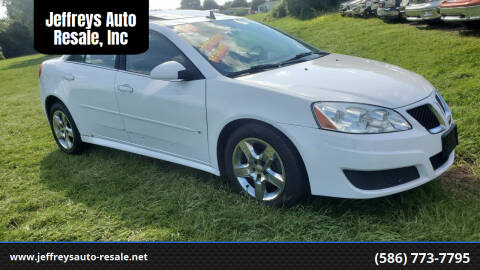 2010 Pontiac G6 for sale at Jeffreys Auto Resale, Inc in Clinton Township MI