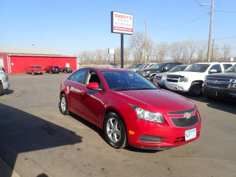 2014 Chevrolet Cruze for sale at Marty's Auto Sales in Savage MN