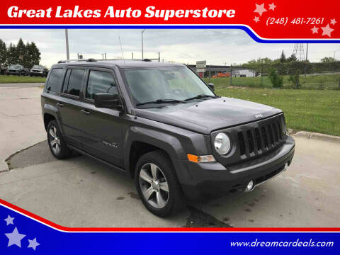 2016 Jeep Patriot for sale at Great Lakes Auto Superstore in Pontiac MI