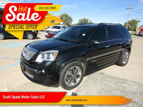 2012 GMC Acadia for sale at Scott Spady Motor Sales LLC in Hastings NE