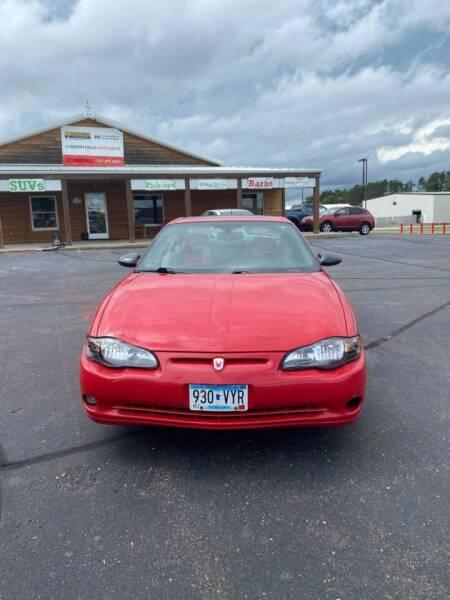 2003 Chevrolet Monte Carlo for sale at Cannon Falls Auto Sales in Cannon Falls MN