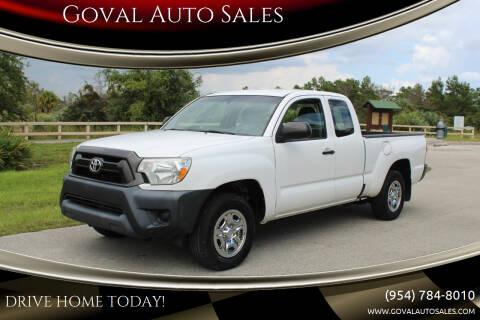 2015 Toyota Tacoma for sale at Goval Auto Sales in Pompano Beach FL