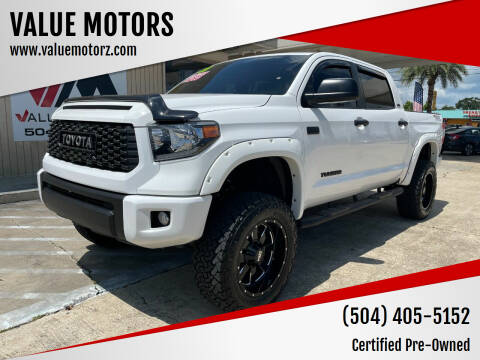2021 Toyota Tundra for sale at VALUE MOTORS in Kenner LA