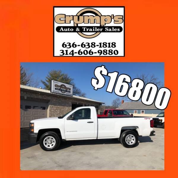2014 Chevrolet Silverado 1500 for sale at CRUMP'S AUTO & TRAILER SALES in Crystal City MO