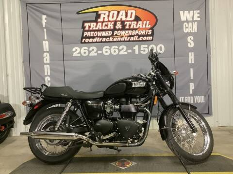 2008 Triumph Bonneville Black for sale at Road Track and Trail in Big Bend WI