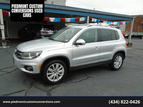 2014 Volkswagen Tiguan for sale at PIEDMONT CUSTOM CONVERSIONS USED CARS in Danville VA