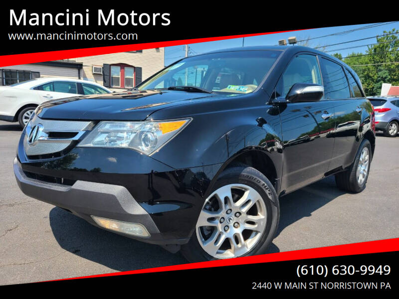 2009 Acura MDX for sale at Mancini Motors in Norristown PA