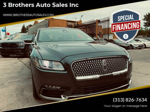 2020 Lincoln Continental for sale at 3 Brothers Auto Sales Inc in Detroit MI