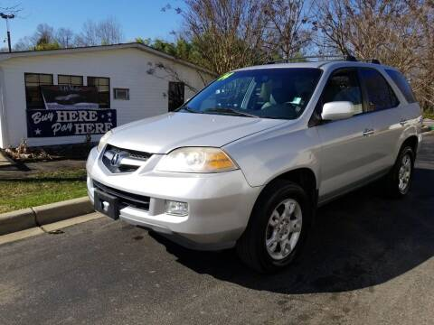 2004 Acura MDX for sale at TR MOTORS in Gastonia NC