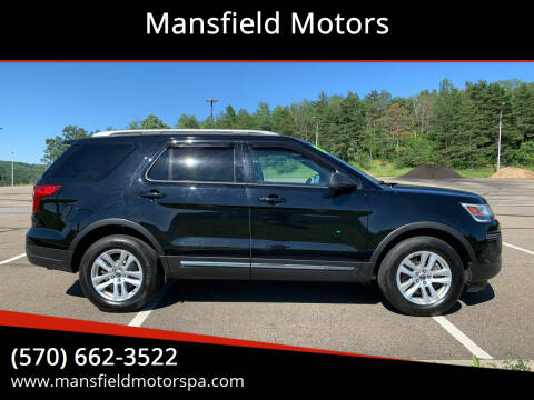 2018 Ford Explorer for sale at Mansfield Motors in Mansfield PA