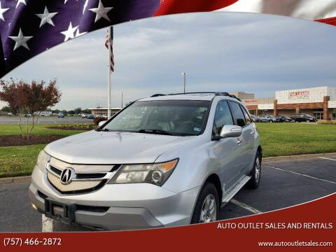 2007 Acura MDX for sale at Auto Outlet Sales and Rentals in Norfolk VA