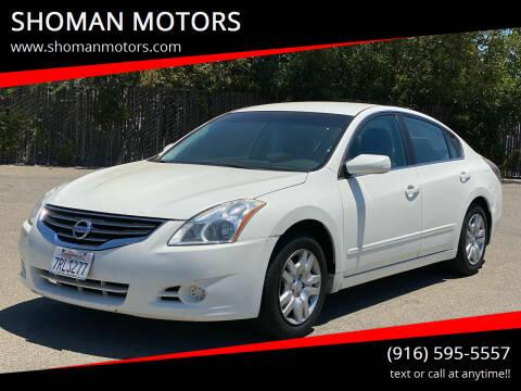 2012 Nissan Altima for sale at SHOMAN MOTORS in Davis CA