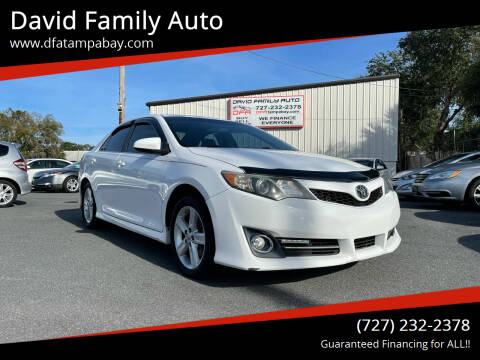 2013 Toyota Camry for sale at David Family Auto in New Port Richey FL