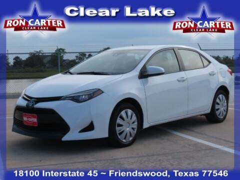 2017 Toyota Corolla for sale at Ron Carter  Clear Lake Used Cars in Houston TX
