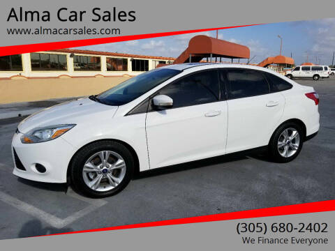2014 Ford Focus for sale at Alma Car Sales in Miami FL