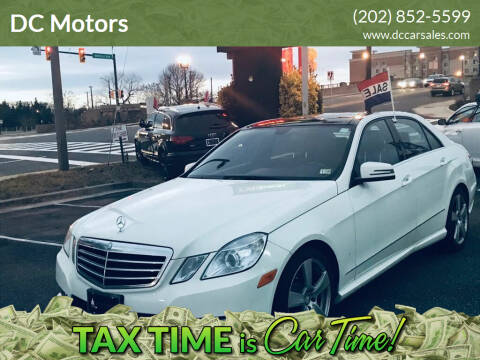 2010 Mercedes-Benz E-Class for sale at DC Motors in Springfield VA