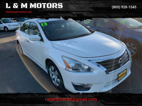 2013 Nissan Altima for sale at L & M MOTORS in Santa Maria CA