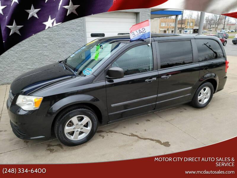 2011 Dodge Grand Caravan for sale at Motor City Direct Auto Sales & Service in Pontiac MI