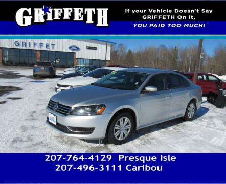 2014 Volkswagen Passat for sale at Griffeth Mitsubishi - Pre-owned in Caribou ME