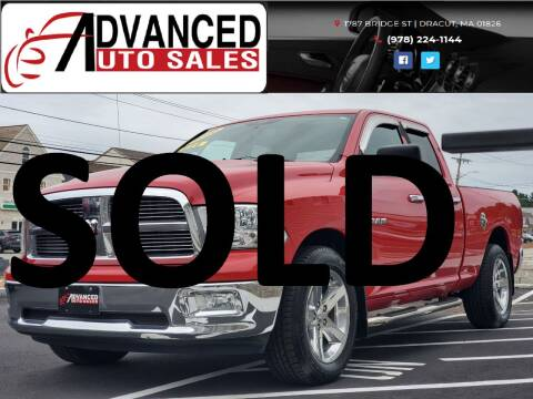 2010 Dodge Ram Pickup 1500 for sale at Advanced Auto Sales in Dracut MA