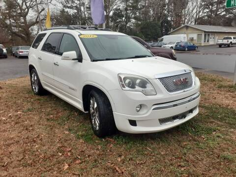 2012 GMC Acadia for sale at PIRATE AUTO SALES in Greenville NC