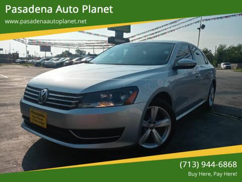2012 Volkswagen Passat for sale at Pasadena Auto Planet in Houston TX