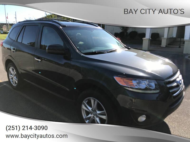2012 Hyundai Santa Fe for sale at Bay City Auto's in Mobile AL
