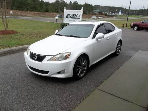 2008 Lexus IS 250 for sale at Anderson Wholesale Auto in Warrenville SC